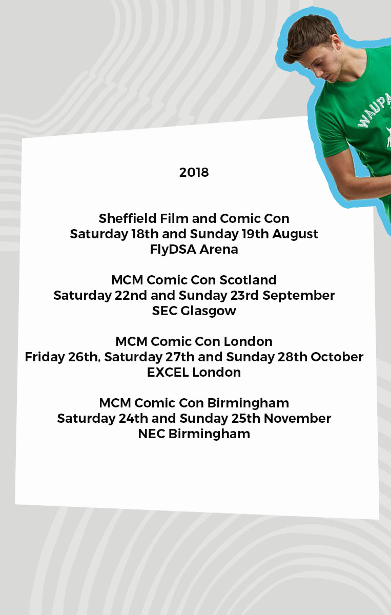 Cosplay COmpnay Comic Con schedule 2018